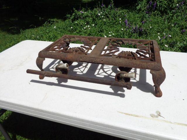 Antique Original Cast Iron Griswold 2 Burner Camping Camp Gas Stove Hot Plate