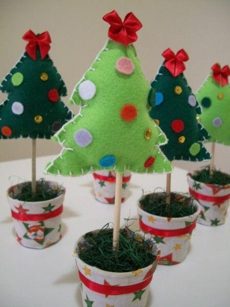 Enfeites de Natal em Feltro                                                                                                                                                                                 Mais