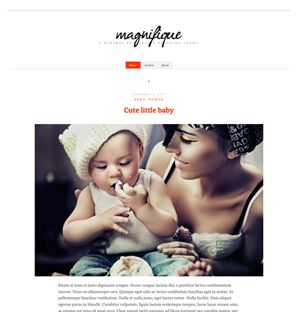 Magnifique Responsive Blogging theme for WordPress