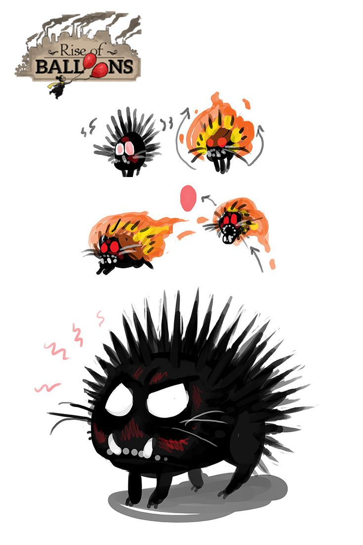A monster that Amael will face in Rise of Balloons, Angry. Follow us for more!  www.riseofballoons.com #riseofballoons