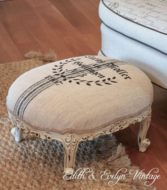 Vintage French Provincial Foot Stool European by edithandevelyn on Etsy