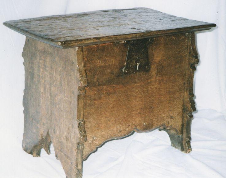 Gothic box stool, Marhamchurch antiques