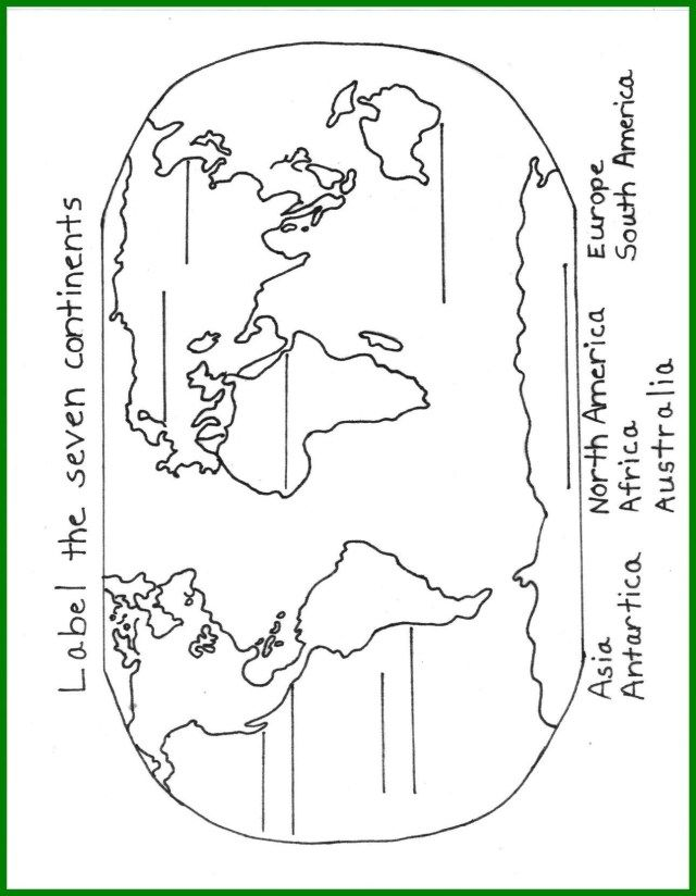 Great Image of Continents Coloring Page Continents