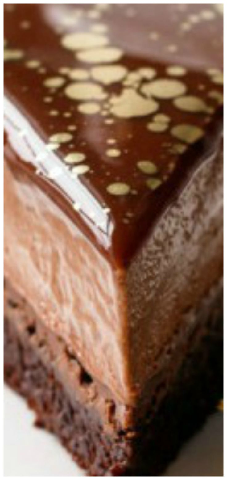 Nutella Brownie Mousse Cake with Milk Chocolate Mirror ...