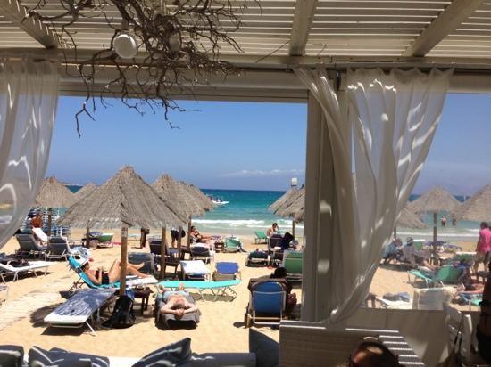 Nava (beach restaurant) Santa Maria Beach near Naoussa