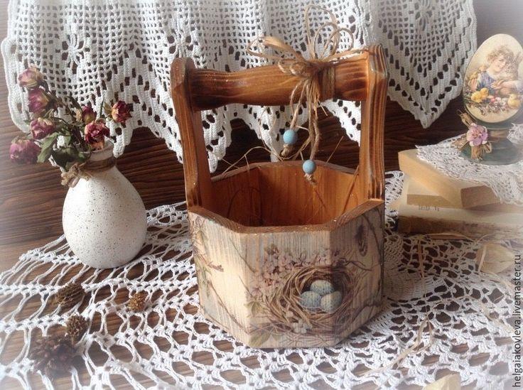 """Купить Лукошко """"Пасхальный звон"""" - комбинированный, Пасха, пасхальный сувенир, пасхальный подарок, пасхальные подарки"""