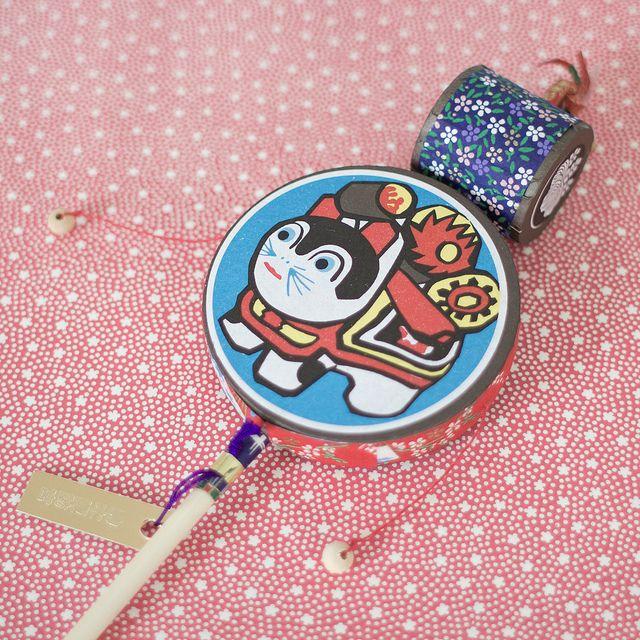 Japanese traditional toy, den-den daiko