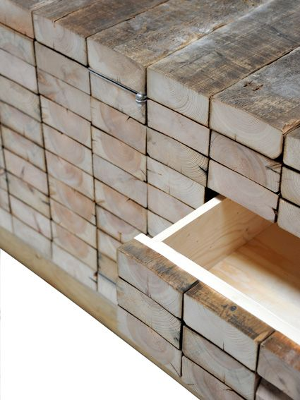 Wood Is Good! - thekhooll: Waste Beam Cabinet By Piet Hein Eek