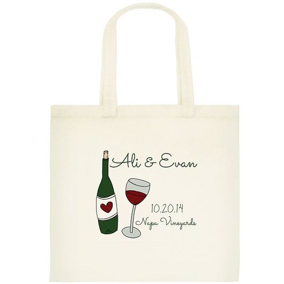 Vineyard Wedding Tote Bags  wedding totes by yourethatgirldesigns, $24.00