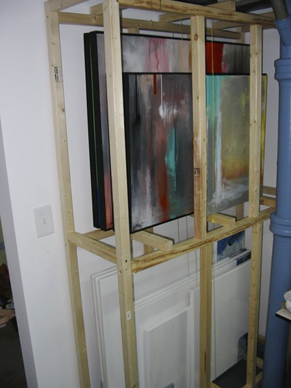 14 best images about art studios on pinterest shelves - Storage options for small spaces paint ...