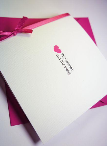 """Hochzeitskarten - Hochzeitseinladung-Hochzeitskarte """"Immer & Ewig - ein Designerstück von Formatreich-Hochzeitskarten bei DaWanda"""
