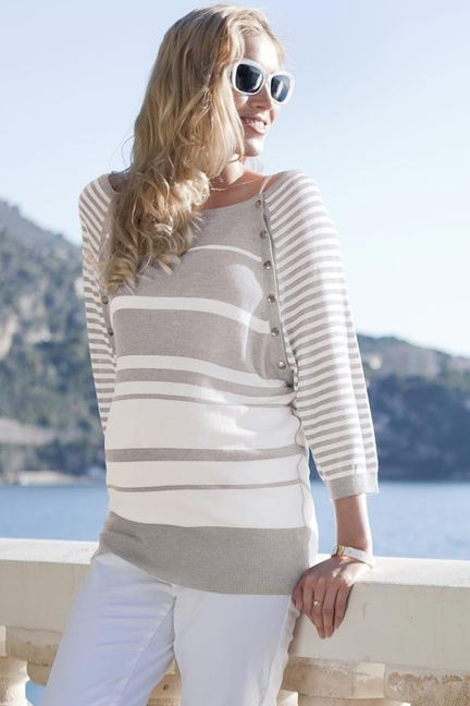 Nessa Bamboo Maternity And Nursing Lightweight Sweater by Seraphine | Maternity Clothes  www.duematernity.com Follow Due Maternity on Instagram www.instagram.com... BEST selection of Maternity clothes anywhere!