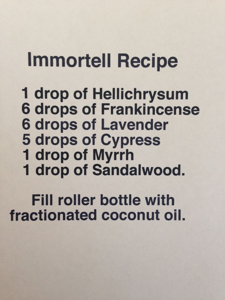 Immortelle recipe. Sometime I am going to try swapping the cypress oil with rose oil.