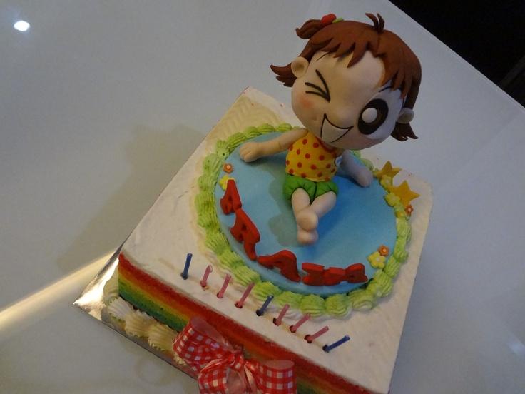 Rainbow Cake with Mikko