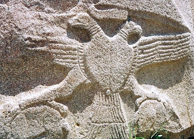SUMERIAN DOUBLE HEADED EAGLE FROM LAGASH. It was used as a seal and coat of arms during the rule of the Hittites and much later Byzantine Empire. Also used as a symbol of rank for the highest order of Scottish Rite Free Masonry. Now we see it used as the coat of arms in Russia. It holds the same meaning as the Jewish Star(Star of Remphan in the bible), and the Kabbalah cube.