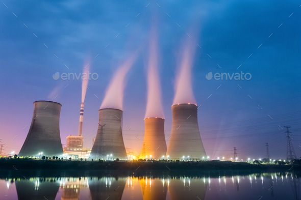 Power Plant At Night With Images Power Plant Nuclear Power