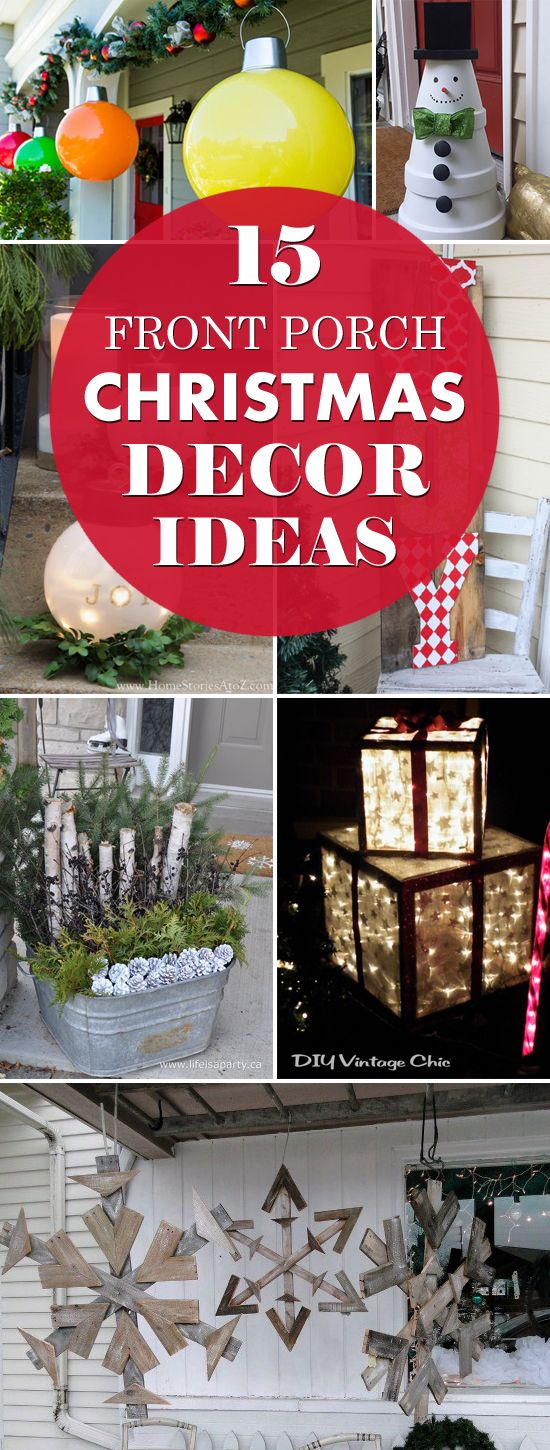 15 Awesome Front Porch Christmas Decor Ideas