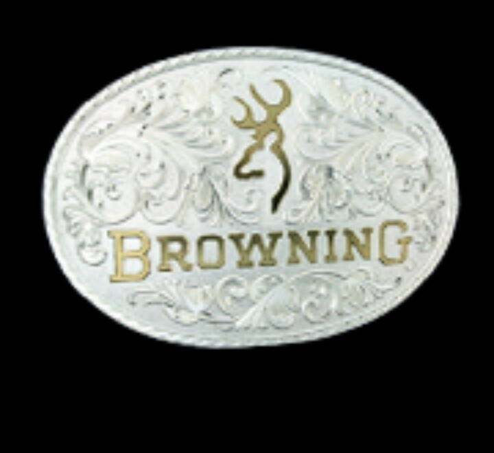 browning belt buckle designed by Montana Silversmiths