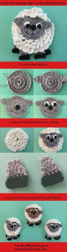 Free Crochet sheep pattern.