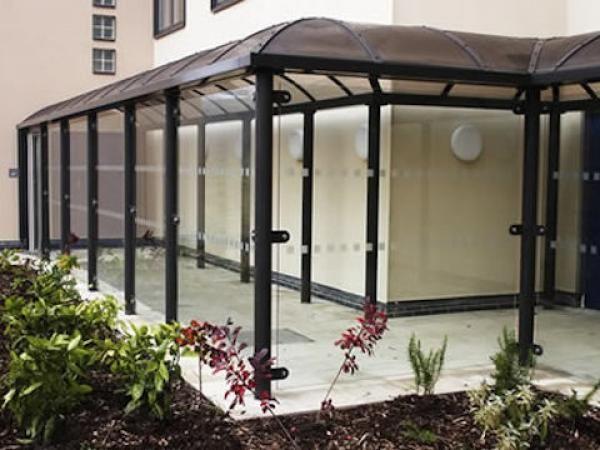 Residential Covered Walkways | Riverside Cambridge - Covered Walkway Residential | Clovis Canopies UK ...