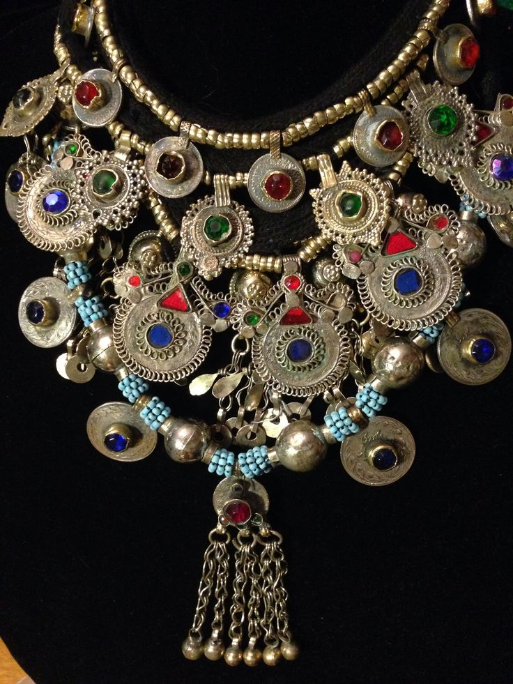 5 separate Afghani Kuchi necklaces combined to make a statement that won't go unnoticed.