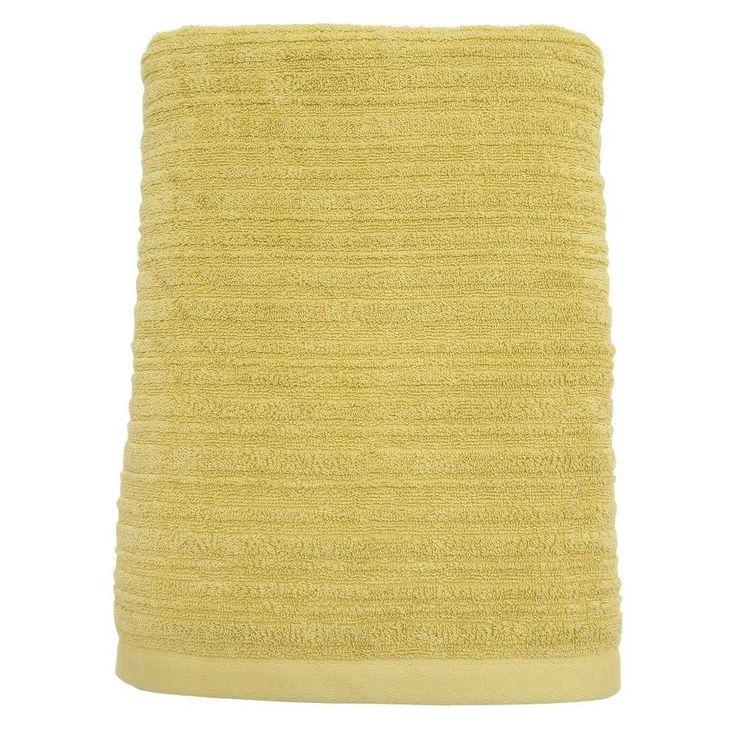 Textured Bath Sheet Lasting Yellow - Threshold