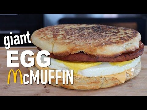 This Giant McDonald's Egg McMuffin Sandwich Is Glorious [Video]