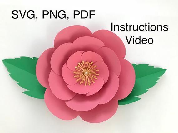 Heart Petal Flower 3D Digital Download SVG /& Pdf