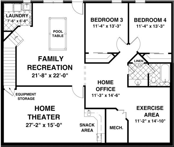 25 best ideas about basement floor plans on pinterest for Ranch floor plans with basement