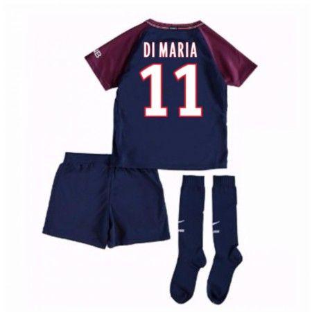 PSG Angel Di Maria 11 Hjemmebanesæt Børn 17-18 Kort ærmer #Billige Fodboldtrøjer