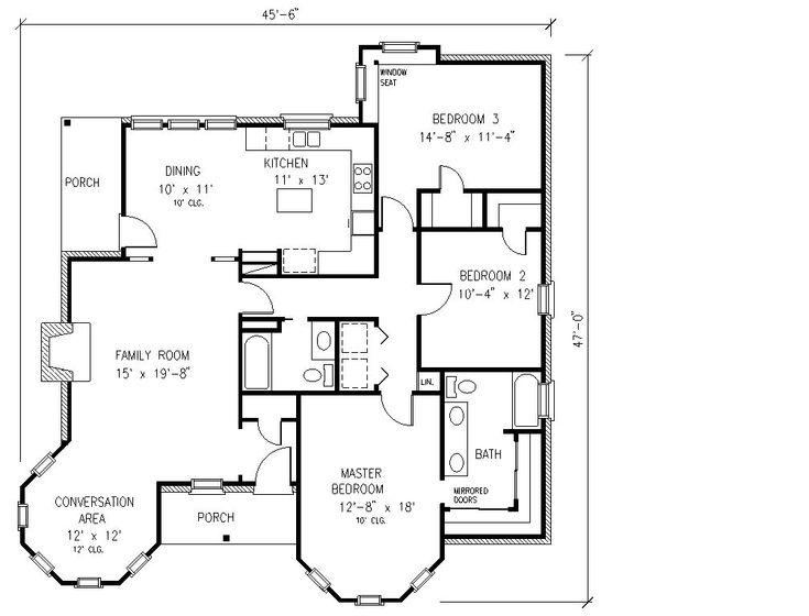 Plano de una Casa de tres Dormitorios | Planos de Casas Modernas, Pequeñas, Grandes, Rusticas, Minimalistas, etc...