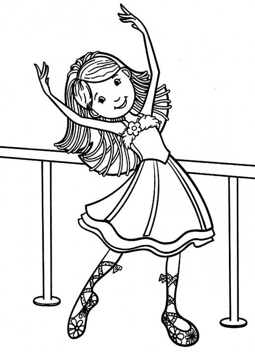 physical activities coloring pages - photo#17