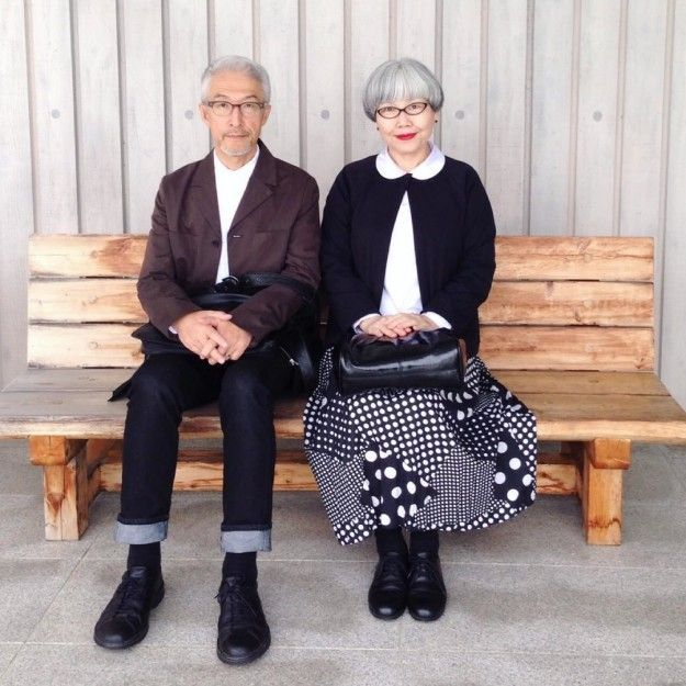 The couple started their current Instagram account, bonpon511, in December, when their daughter, Ms. May, suggested they get a joint account. They started matching their outfits because they noticed they already had matching hair. | This Japanese Couple Match Their Outfits And People Are Obsessed With Them