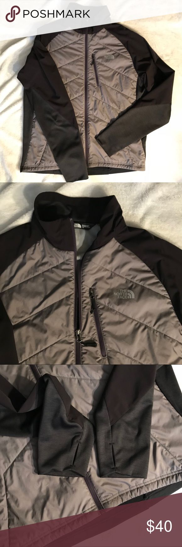 Men's The North Face windbreaker jacket size Large The north face brand  Men's large  Windbreaker light weight jacket  Front breast pocket  Thumb holes  Excellent condition!   Length: 27.5in Width: 22in  Sleeve to shoulder: 29in The North Face Jackets & Coats Windbreakers