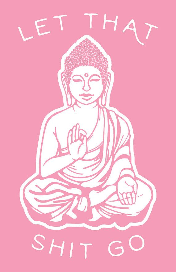 Let That Go Pink Buddha Art Print by SundazeSociety on Etsy