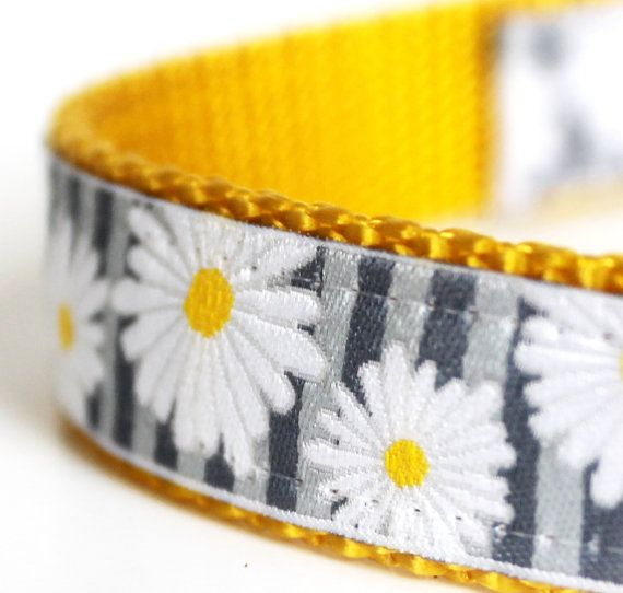 Pretty  Daisy Dog Collar / Ribbon Dog Collar / by daydogdesigns, $17.50