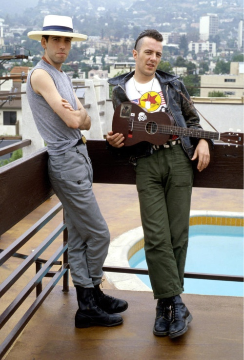 Joe Strummer and Mick Jones....JUST too damn cool for words !!