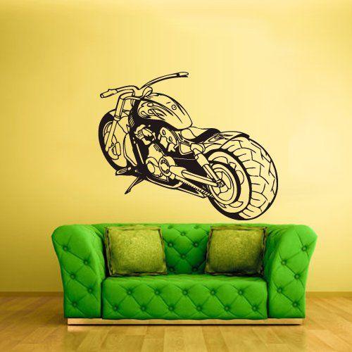 Wall Vinyl Sticker Decals Decor Art Bedroom Design Chopper Moto Motorcycle (Z1498) StickersForLife http://www.amazon.com/dp/B00EJA08T0/ref=cm_sw_r_pi_dp_W0Sevb0BKQZC1