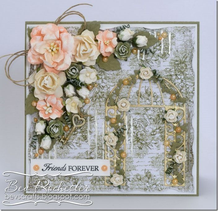 Friends Forever,Card with flowers, Joy Crafts dies