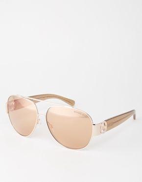 Солнцезащитные очки‑авиаторы с зеркальными линзами Michael Kors