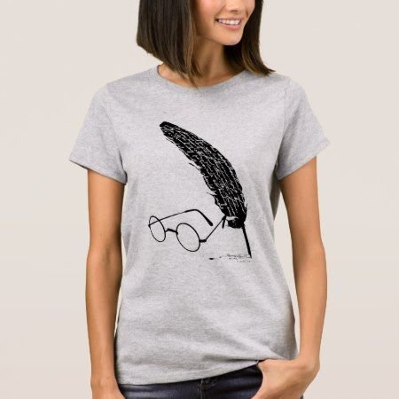 Harry Potter | Glasses And Quill T-Shirt - click to get yours right now!