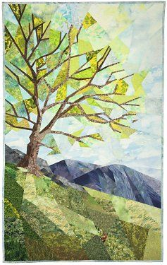 Quilt Artist: Ann Harwell - tree art quilt, beautiful!!
