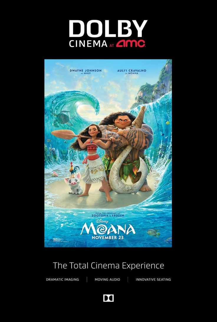 The BEST way to see #Moana - In Dolby Cinema at AMC (sponsored)
