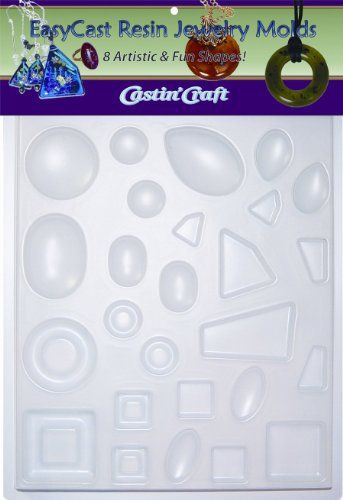 Environmental Technology Castin' Craft EasyCast Resin Jewelry Mold , 8 Artistic Shapes On One Tray