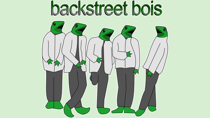 Backstreet Bois, dat boi, cool, t-shirt, shirt, tee, tshirt, top, drawing, art, dank memes, meme, skater boy, frog, unicycle, funny, trending, o shit waddup, oh shit, here come dat boi, comes, dem bois, frogs