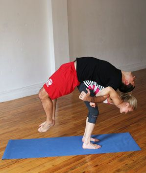 Assisted Backbend - Hatha Yoga Poses for Couples - Shape Magazine