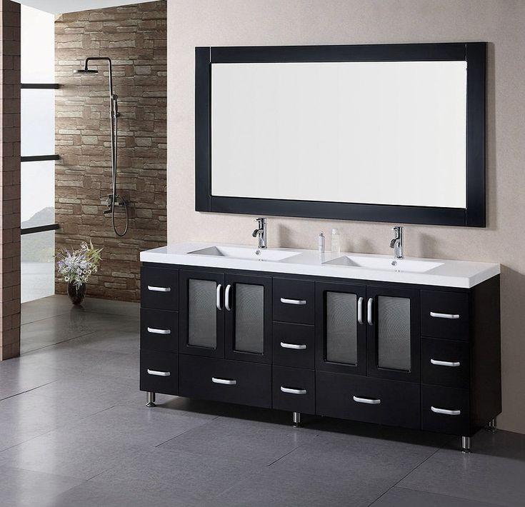 2 Sink Bathroom Vanity 72 double sink vanity. . . . virtu usa 72inch double sink bathroom