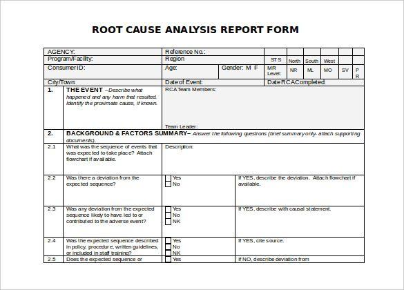 9 Problem Analysis Templates Analysis Templates Report Template