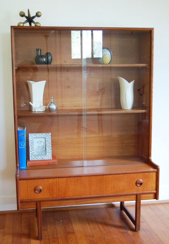 Danish Modern Mid Century Modern Teak Display / by ljindustries