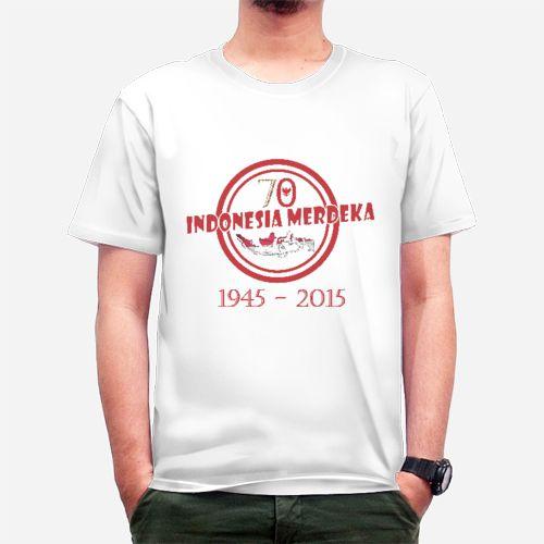 Kaos 70 Tahun Indonesia Merdeka   Rp 107000